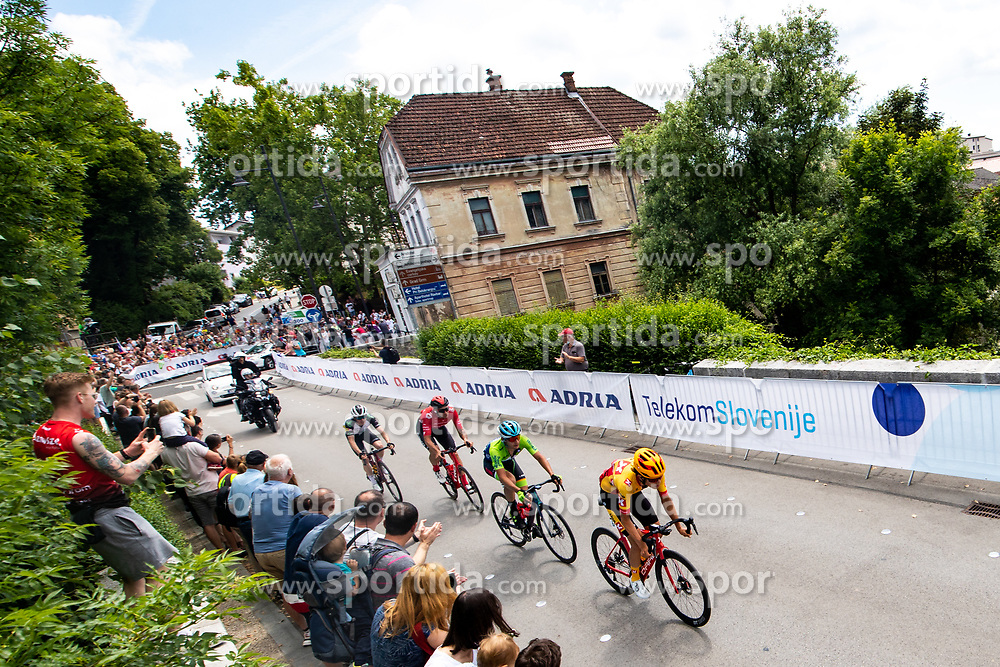 Jeppe PALLESEN of TEAM COLOQUICK, Pawel BERNAS of HRE MAZOWSZE SERCE, Martin LAVRIC of Team Slovenia and Torstein TRAEEN of UNO - X PRO CYCLING TEAM during the 5th Stage of 27th Tour of Slovenia 2021 cycling race between Ljubljana and Novo mesto (175,3 km), on June 13, 2021 in Slovenia. Photo by Matic Klansek Velej / Sportida