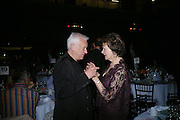 Michael Craig-Martin and Joan Bakewell. The Art Party, Tate Modern. a party to raise funds for 'Art for All'. 16 June 2005. ONE TIME USE ONLY - DO NOT ARCHIVE  © Copyright Photograph by Dafydd Jones 66 Stockwell Park Rd. London SW9 0DA Tel 020 7733 0108 www.dafjones.com