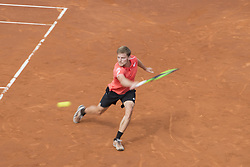 April 28, 2018 - Barcelona, Barcelona, Spain - DAVID GOFFIN during the semifinal against RAFAEL NADAL in the Barcelona Open Banc Sabadell 2018. RAFAEL NADAL won the match 6-4 6-0. (Credit Image: © Patricia Rodrigues/via ZUMA Wire via ZUMA Wire)