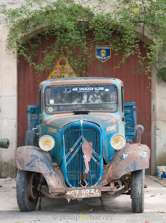 An old Citroën truck in the Languedoc region of France