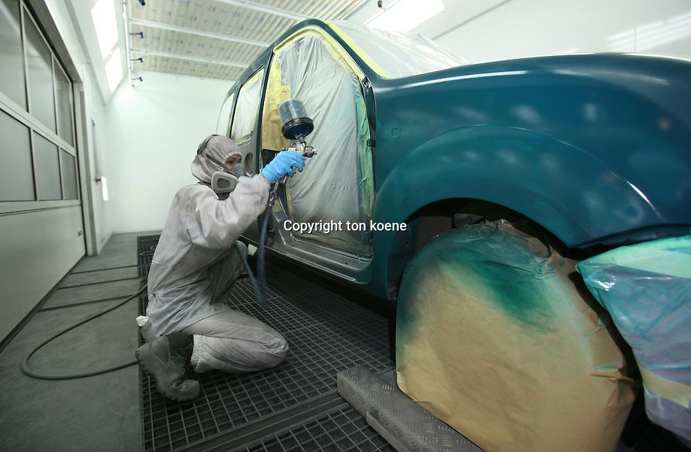 car painter at work