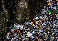 """Details of Glass Beach at Fort Bragg, Mendocino, California   Each 252-piece photo puzzle comes in a sturdy, finished cardboard box and measures 10"""" x 14"""" when complete"""