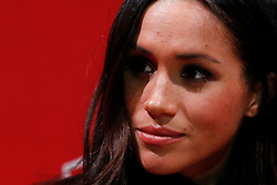 Meghan Markle attends a Terrence Higgins Trust World AIDS Day charity fair, during a visit to the Nottingham Contemporary in Nottingham, on her first official engagement with Prince Harry.