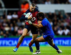 Jonny May of England is tackled - Mandatory by-line: Robbie Stephenson/JMP - 06/09/2019 - RUGBY - St James's Park - Newcastle, England - England v Italy - Quilter Internationals