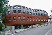 The Chesa Futura, or future house (Architect: Norman Foster), St. Moritz, Switzerland,