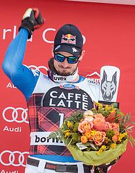 28.12.2017, Stelvio, Bormio, ITA, FIS Weltcup, Ski Alpin, Abfahrt, Herren, Flower Zeremonie, im Bild Dominik Paris (ITA, 1. Platz) // race winner Dominik Paris of Italy during the Flowers ceremony for the men's downhill of FIS Ski Alpine World Cup at the Stelvio course, Bormio, Italy on 2017/12/28. EXPA Pictures © 2012, PhotoCredit: EXPA/ Johann Groder
