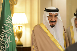 File photo - Salman Bin Abdulaziz Al Saud becomes New Saudi King after King Abdullah bin Abdulaziz has died, royal officials have announced, weeks after he was admitted to hospital. King Abdullah, who was said to be aged about 90, had been suffering from a lung infection. A statement early on Friday said his 79-year-old half brother, Salman, had become king. File photo : Saudi Crown Prince Salman Bin Abdulaziz Al Saud (Saoud), seen at Four Seasons Hotel George V, in Paris, France, on September 3rd, 2014. Saudi Arabia's king has appointed his son Mohammed bin Salman as crown prince - replacing his nephew, Mohammed bin Nayef, as first in line to the throne. Prince Mohammed bin Nayef, 57, has been removed from his role as head of domestic security, state media say. Photo by Ammar Abd Rabbo/ABACAPRESS.COM