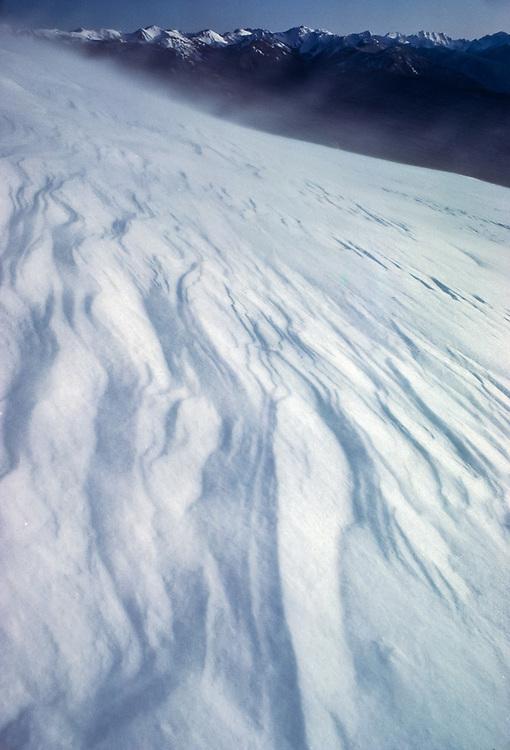 Windblown snow, Hurricane Ridge, Olympic National Park, Washington, USA