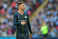 Manchester City defender Aymeric Laporte (14) during the The FA Cup semi-final match between Manchester City and Brighton and Hove Albion at Wembley Stadium, London, England on 6 April 2019.