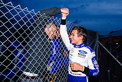 Lando Norris celebrates with Mark Berryman of ADD Motorsports after winning the Championship Title with a race to spare | #31 Carlin | MSA Formula Championship | Race 2 - Mandatory byline: Rogan Thomson/JMP - 07966 386802 - 10/10/2015 - MOTORSPORT - Brands Hatch GP Circuit - Fawkham, England - BTCC Meeting Day 1.