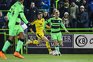 Forest Green Rovers Joseph Mills(23) runs forward during the The FA Cup 1st round replay match between Forest Green Rovers and Oxford United at the New Lawn, Forest Green, United Kingdom on 20 November 2018.