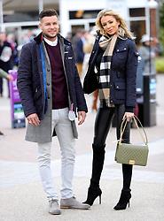Chris Hughes and Olivia Attwood during Ladies Day of the 2018 Cheltenham Festival at Cheltenham Racecourse.