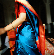Close up of a waitress in the Taj Hotel Residency, Lucknow, Uttar Pradesh, India