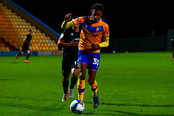 Alistair Smith of Mansfield Town runs on the ball - Mandatory by-line: Ryan Crockett/JMP - 06/10/2020 - FOOTBALL - One Call Stadium - Mansfield, England - Mansfield Town v Lincoln City - Leasing.com Trophy