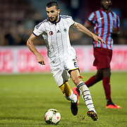 Fenerbahce's Mehmet Toplal during their Turkish SuperLeague Derby match Trabzonspor between Fenerbahce at the Avni Aker Stadium at Trabzon Turkey on Sunday, 14 September 2014. Photo by Aykut AKICI/TURKPIX