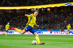 March 23, 2019 - Stockholm, SWEDEN - 190323 Viktor Claesson of Sweden in action during the UEFA Euro Qualifier football match between Sweden and Romania on March 23, 2019 in Stockholm..Photo: Johanna Lundberg / BILDBYRÃ…N / kod JL / 135968 (Credit Image: © Johanna Lundberg/Bildbyran via ZUMA Press)