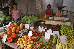 Fruit & vegetables on stall in Farmers' Market in Havana,