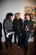 JESSICA DE ROTHSCHILD, BODIL BLAINE AND K.J. HAUGED, Happiness- Private view of work by Barry Reigate. Paradise Row, London and afterwards at Mark hix's new restaurant. ix Oyster and Chop House, 37-37 Greenhill Rents, Cowcross St, EC1. 14 March 2008. <br />