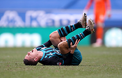 Southampton's Guido Carrillo shouts in pain after picking up an injury