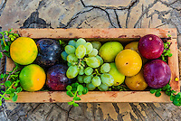 Fresh fruit, Babylonstoren, Cape Winelands, near Cape Town, South Africa.