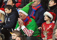 Football - 2016 / 2017 Premier League - Crystal Palace vs. Chelsea<br /> <br /> Festive Palace fans see the funny side at Selhurst Park.<br /> <br /> COLORSPORT/ANDREW COWIE