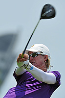 (140227) -- SINGAPORE, Feb. 27, 2014 (Xinhua) -- Karrie Webb of Australia reacts during the HSBC Women s Champions in Singapore s Sentosa Golf Club, Feb. 27, 2014. (Xinhua/Then Chih Wey) (SP) SINGAPORE-GOLF-LPGA PUBLICATIONxNOTxINxCHN<br /> <br /> Norway only