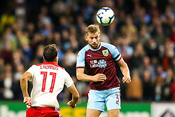 Charlie Taylor of Burnley heads the ball - Mandatory by-line: Robbie Stephenson/JMP - 30/08/2018 - FOOTBALL - Turf Moor - Burnley, England - Burnley v Olympiakos - UEFA Europa League Play-offs second leg