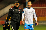 Dannie Bulman after the EFL Sky Bet League 2 match between Walsall and Crawley Town at the Banks's Stadium, Walsall, England on 18 January 2020.