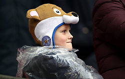 Leicester City fan before the Premier League match at Wembley Stadium, London.