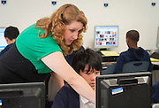 Amy Railsback teaches technology to 6th graders at Grady Middle School School, May 6, 2013.