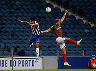 Luis Díaz of Porto in action with Cláudio Winck of Maritimo during the Portuguese League (Liga NOS) match between FC Porto and Maritimo at Estadio do Dragao, Porto, Portugal on 3 October 2020.