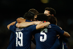November 26, 2019, Madrid, MADRID, SPAIN: Pablo Sarabia of Paris Saint-Germain celebrates a goal during the UEFA Champions League football match, Group A, played between Real Madrid and Paris Saint-Germain at Santiago Bernabéu Stadium on November 26, 2019, in Madrid, Spain. (Credit Image: © AFP7 via ZUMA Wire)