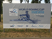 Poznan, POLAND,19th June 2019, Wednesday, 19.06.19,  Competition Poster on display at the  FISA World Rowing Cup II, Malta Lake Course, © Peter SPURRIER,  18:56:06,