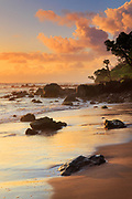 "Sunrise at Koki Beach in the town of Hana in Hawaii's Maui island<br /> ..... <br /> The island of Maui is the second-largest of the Hawaiian Islands and is the 17th largest island in the United States. Maui is part of the State of Hawaii and is the largest of Maui County's four islands, bigger than Molokaʻi, Lānaʻi, and unpopulated Kahoʻolawe. Wailuku is the seat of Maui County and is the third-largest CDP as of 2010. Other significant places include Kīhei (including Wailea and Makena in the Kihei Town CDP, which is the second-most-populated CDP in Maui); Lahaina (including Kāʻanapali and Kapalua in the Lahaina Town CDP); Makawao; Pāʻia; Kula; Haʻikū; and Hāna. Native Hawaiian tradition gives the origin of the island's name in the legend of Hawaiʻiloa, the navigator credited with discovery of the Hawaiian Islands. According to that legend, Hawaiʻiloa named the island of Maui after his son, who in turn was named for the demigod Māui. The earlier name of Maui was ʻIhikapalaumaewa. The Island of Maui is also called the ""Valley Isle"" for the large isthmus between its northwestern and southeastern volcanoes and the numerous large valleys carved into both mountains."