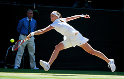 03.07.2014, All England Lawn Tennis Club, London, ENG, WTA Tour, Wimbledon, Tag 10, im Bild Petra Kvitova (CZE) during the Ladies' Singles Semi-Final match on day ten // during day 10 of the Wimbledon Championships at the All England Lawn Tennis Club in London, Great Britain on 2014/07/03. EXPA Pictures © 2014, PhotoCredit: EXPA/ Propagandaphoto/ David Rawcliffe<br /> <br /> *****ATTENTION - OUT of ENG, GBR*****