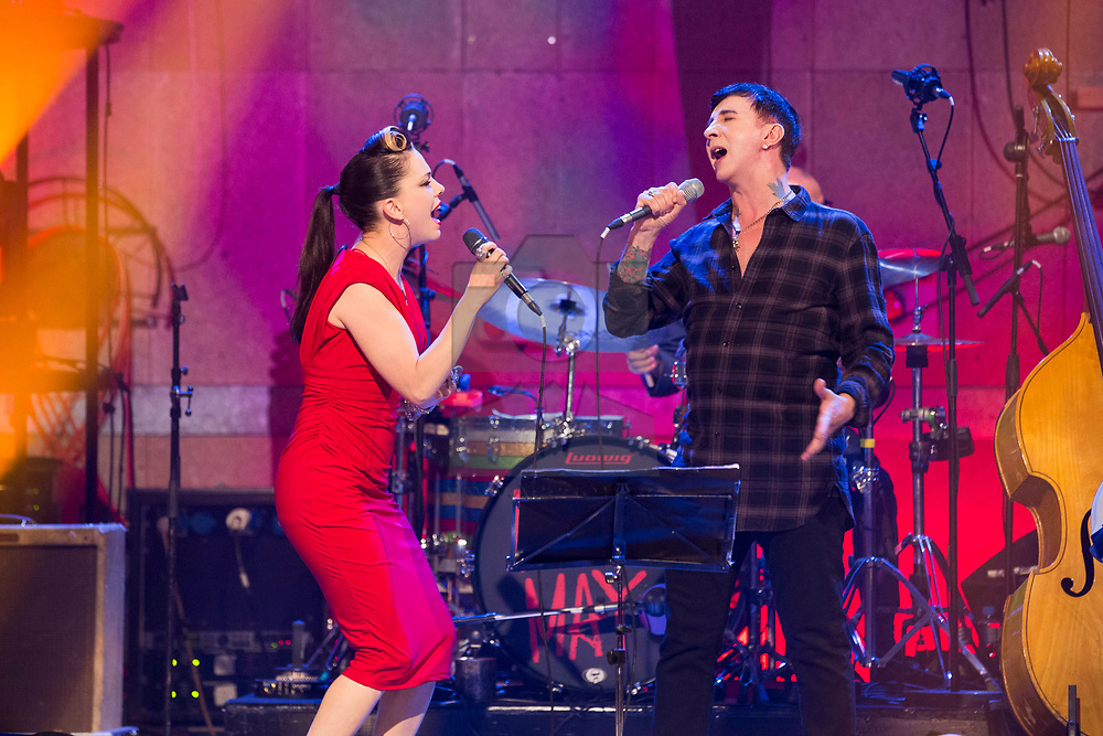 Marc Almond performing Say Hello, Wave Goodbye with Imelda May on the RTÉ Imelda May Show. Picture Andres Poveda