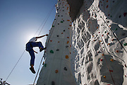 Royal Caribbean International's  Independence of the Seas, the world's largest cruise ship...Rock climbing wall.