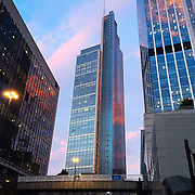 Heron Tower bathed in colourful summer light.<br /> <br /> Shot on evening ride on iPhone 6.