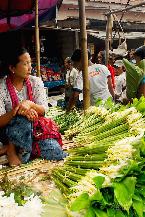 Woman at Inle rural market