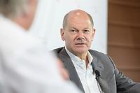 """08 JUN 2021, BERLIN/GERMANY:<br /> Olaf Scholz, SPD, Bundesfinanzminister, Wirtschaftskonferenz, Wirtschaftsforum der SPD """"Post-Coronomics - Transformation, Wachstum, Beschäftigung"""", Axica Kongresszentrum<br /> IMAGE: 20210608-01-046"""