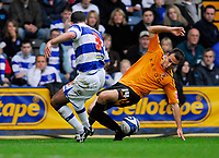Photo: Leigh Quinnell/Sportsbeat Images.<br /> Queens Park Rangers v Hull City. Coca Cola Championship. 03/11/2007. Hulls Richard Garcia keeps the ball in watched by QPRs  Chris Barker.