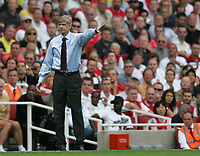 Photo: Lee Earle.<br /> Arsenal v Portsmouth. The FA Barclays Premiership. 02/09/2007.Arsenal manager Arsene Wenger.