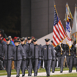Oct 23, 2009; West Point, N.Y., USA; Army Cadets take the field before Rutgers' 27 - 10 victory over Army at Michie Stadium.