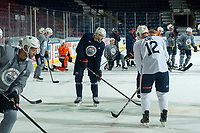 KELOWNA, BC - SEPTEMBER 23: Leon Draisaitl #29 of the Edmonton Oilers practices at Prospera Place on September 23, 2019 in Kelowna, Canada. (Photo by Marissa Baecker/Shoot the Breeze)
