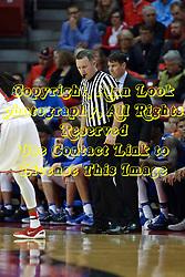 14 November 2016: Jon Coffman, Mastadons Head Coach and Brad Gaston during an NCAA  mens basketball game between the Indiana Purdue Fort Wayne Mastodons the Illinois State Redbirds in Redbird Arena, Normal IL
