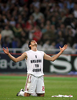 Photo: Paul Thomas.<br /> AC Milan v Liverpool. UEFA Champions League Final. 23/05/2007.<br /> <br /> Kaka celebrates the win on the final whistle.