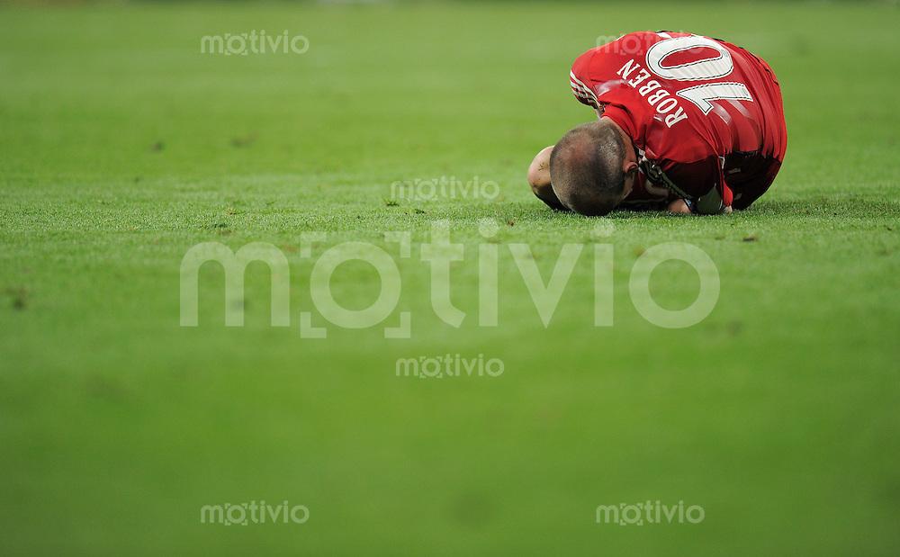 FUSSBALL      CHAMPIONSLEAGUE FINALE       SAISON 2009/2010 FC Bayern Muenchen - Inter Mailand    22.05.2010 ENTTAEUSCHUNG Arjen Robben (FCB)