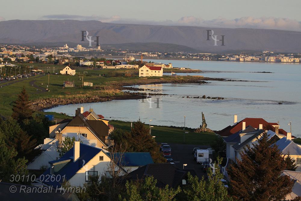 View of coast in western suburbs of Reykjavik, Iceland.