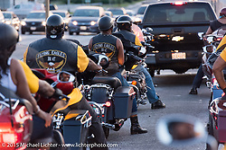 """Riding from the annual Flying Eagles MC (founded 1950) """"Founders Picnic"""" in Sykesville to the American Legion in Catonsville, MD, USA. August 16, 2015.  Photography ©2015 Michael Lichter."""