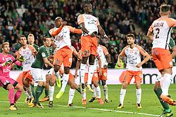 October 20, 2017 - Saint Etienne, France - 29 Casimir NINGA (mhsc) - 19 Souleymane CAMARA (mhsc) - 07 PAUL LASNE  (Credit Image: © Panoramic via ZUMA Press)
